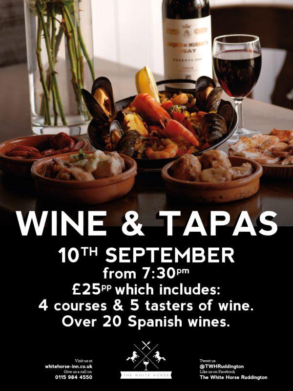 tapas menu template - home the white horse pub